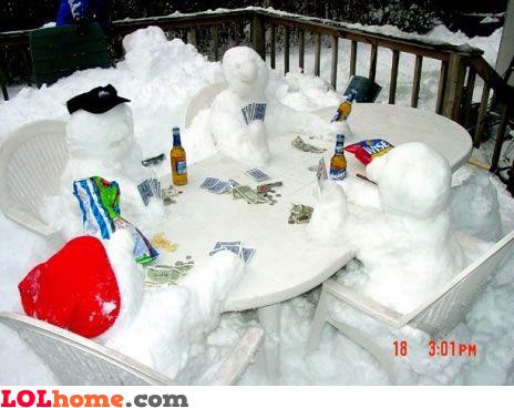Snowmen poker