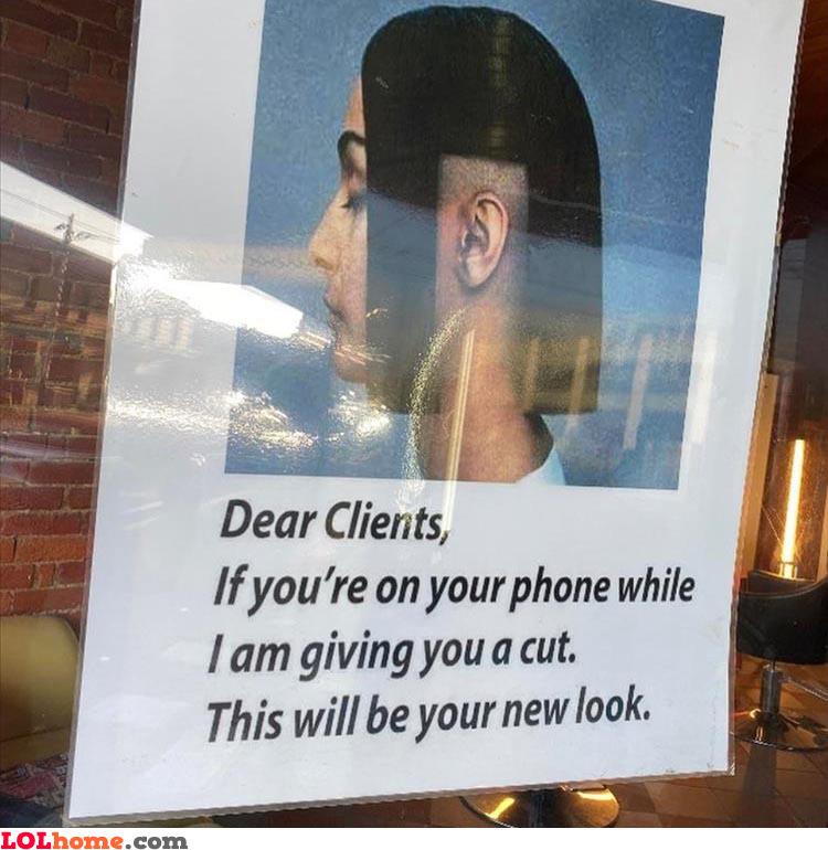 Phone cut