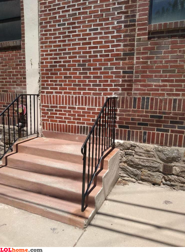 Stairway to heav...wall!