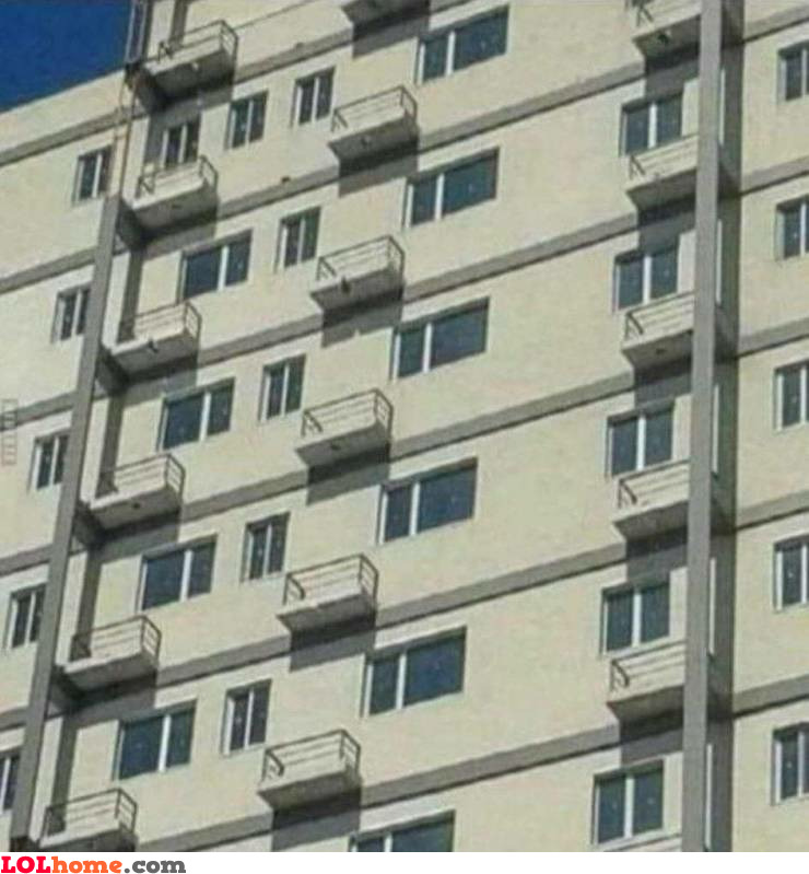 Misplaced balconies