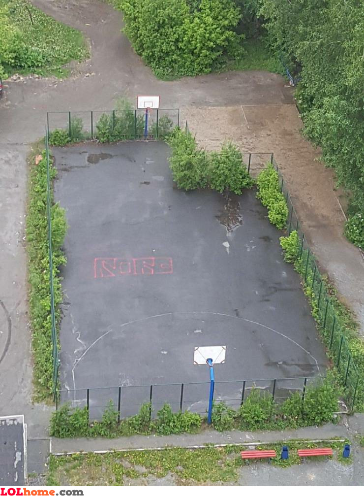 Second hand basketball court