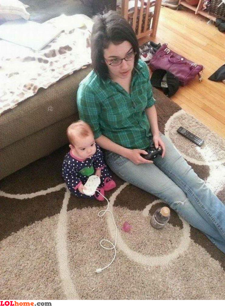 Console gaming with kids