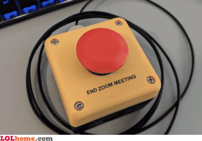 End zoom meeting