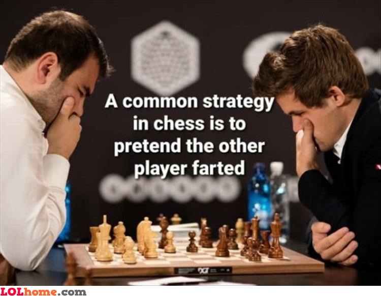 Farting during chess