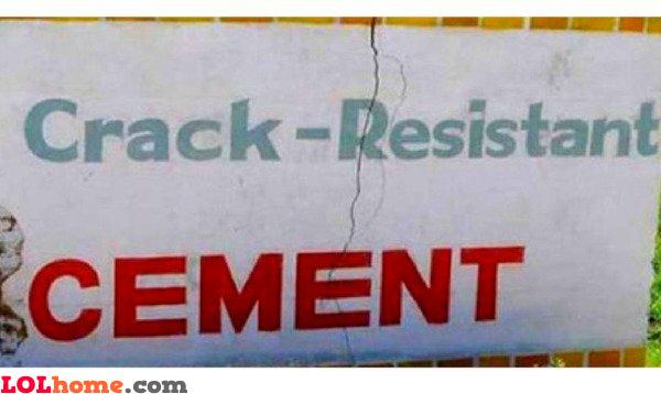 Crack resistant cement