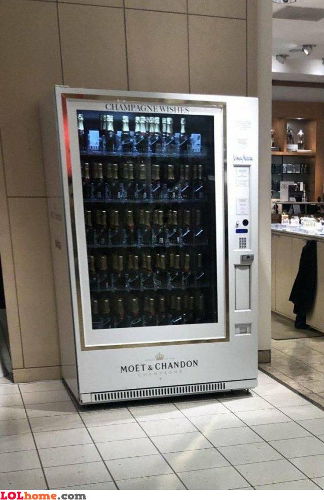 Champagne dispenser