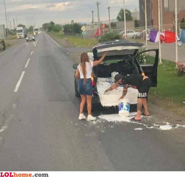 Transporting paint