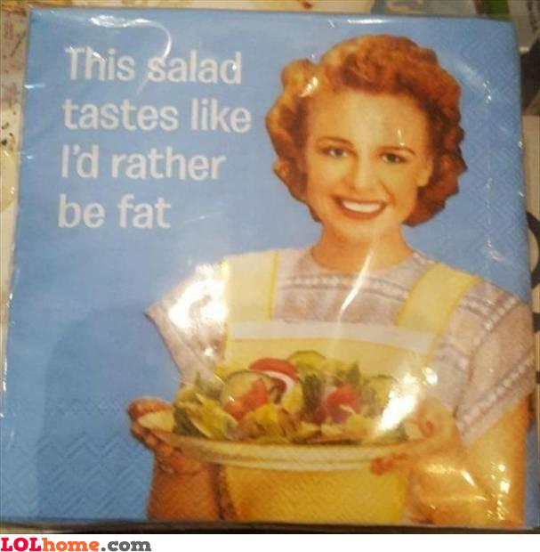 The salad taste