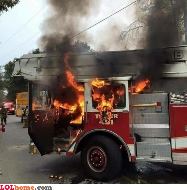 Fired up fire truck