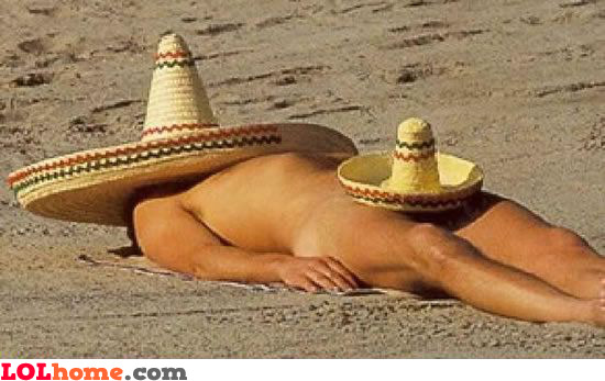Mexican at the beach