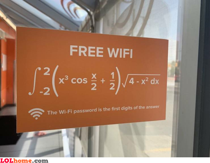 Free WiFi for mathematicians