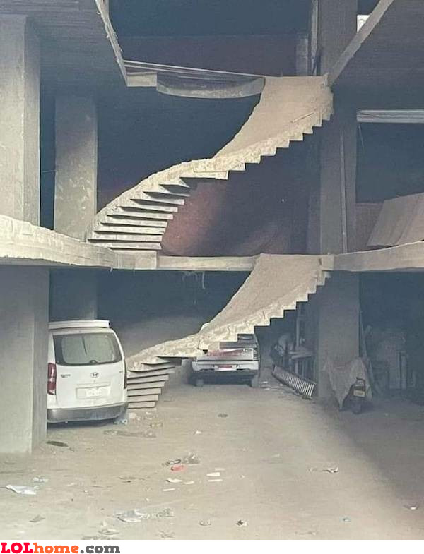 Upside down stairs