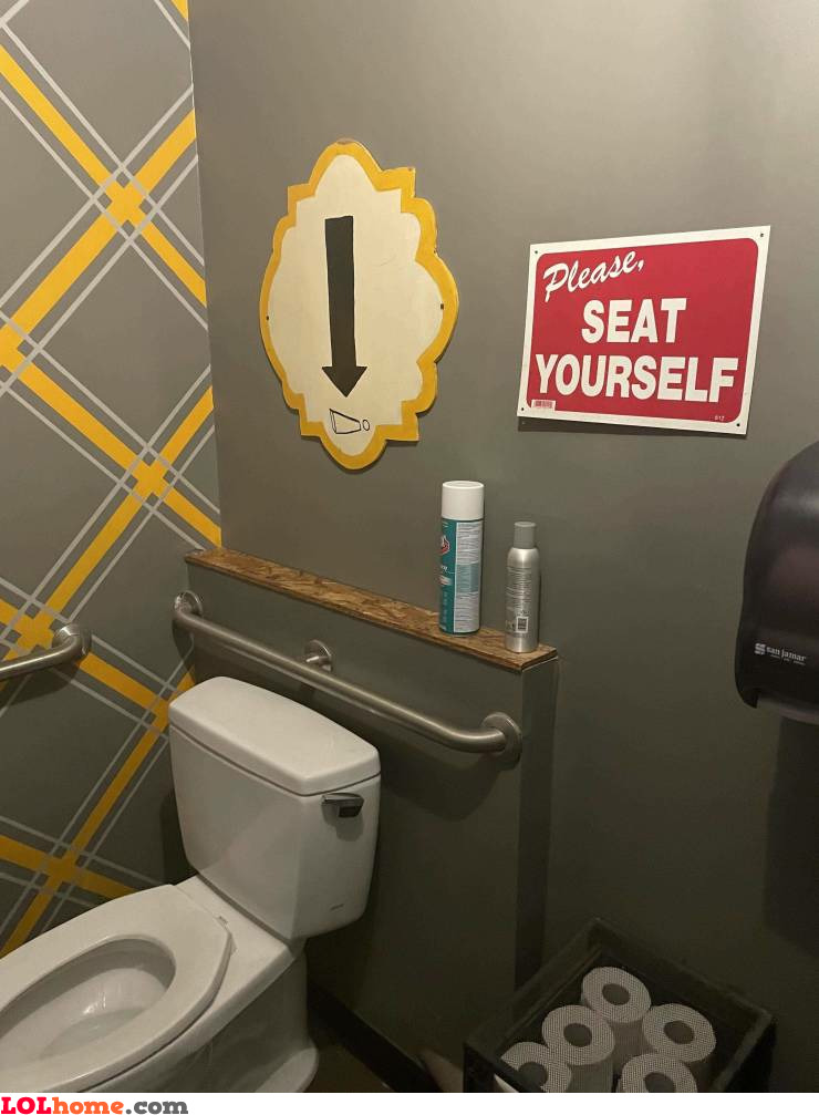 Seat yourself