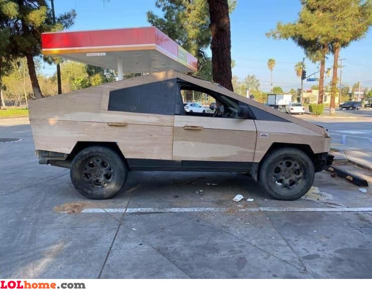 Wooden Cyber Truck