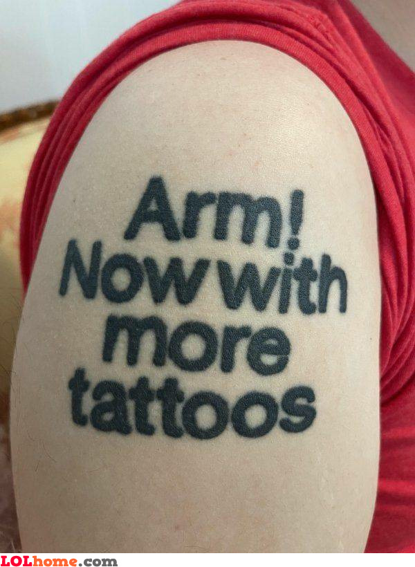 Now with more tattoos