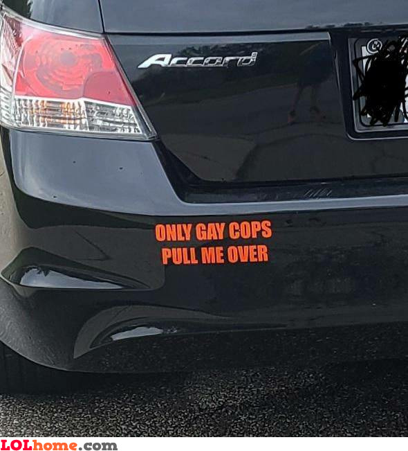 Only gay cops