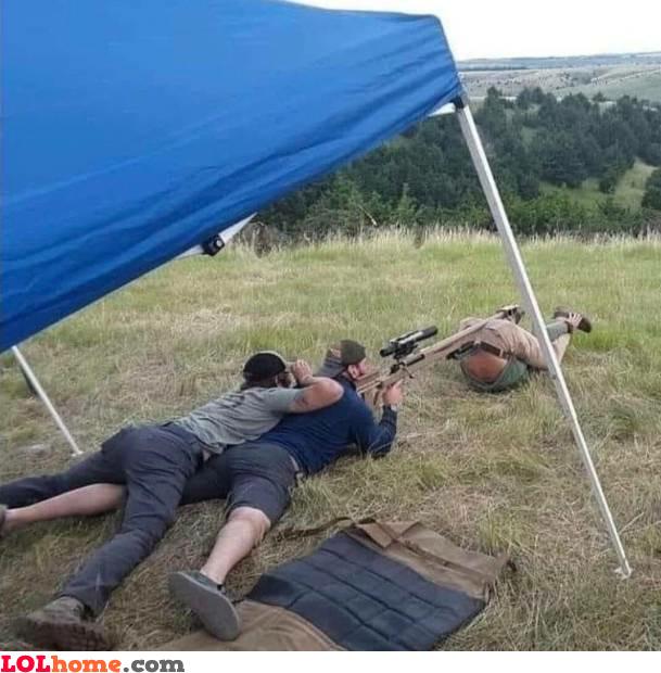 A bonded sniper team