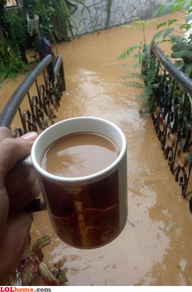 Coffee or flood?
