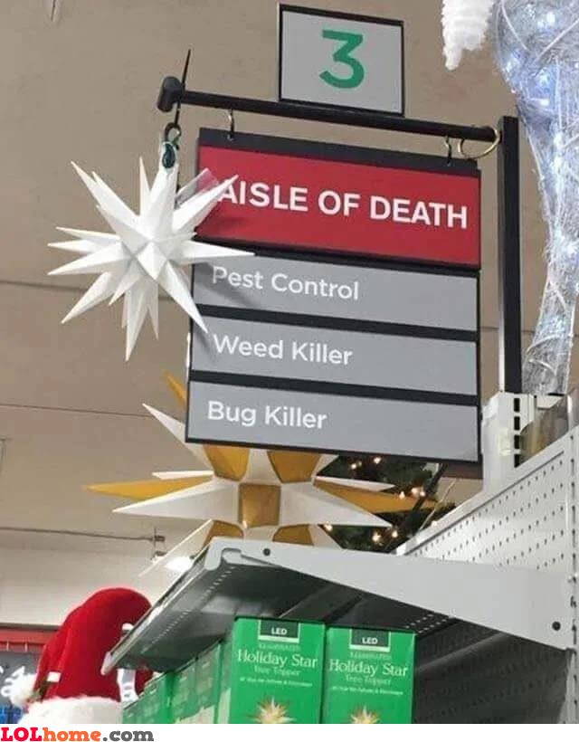 Aisle of death