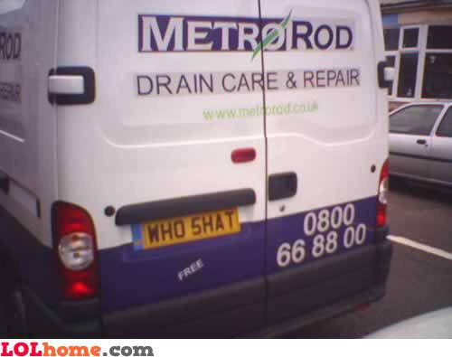 Drain cleaner reg plate