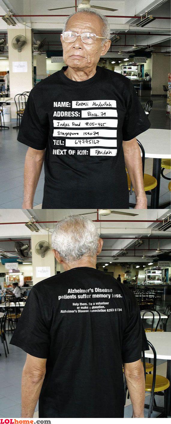 Alzheimer's disease Tshirt