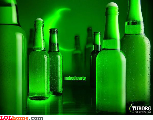 Tuborg naked party