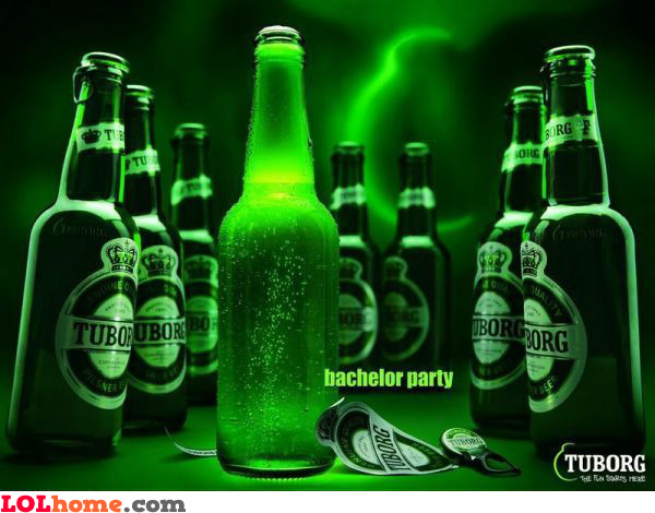 Tuborg bachelor party