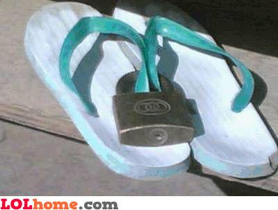 Locked slippers