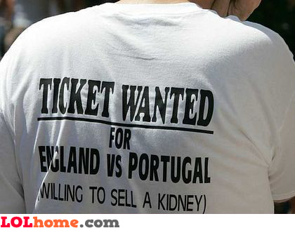 Ticket wanted
