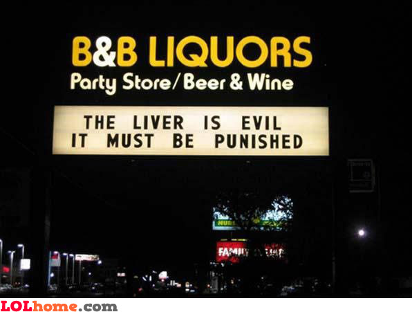 Liquor slogan