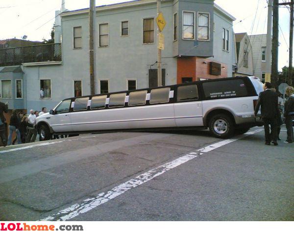 Stuck limo