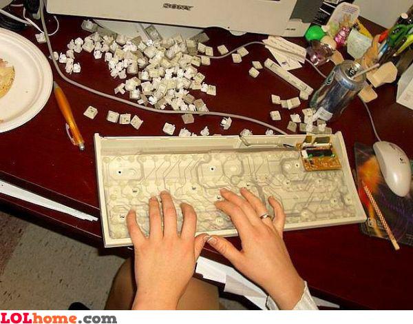 Buttonless keyboard