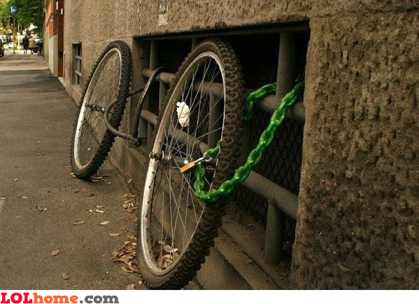 Secured bike