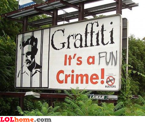 Graffiti is a fun crime