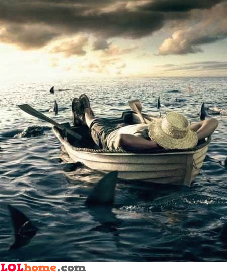 Hope the boat doesn't sink