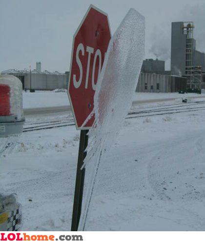Frozen stop