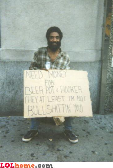 Honest beggar