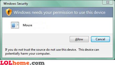 Extra security on Vista