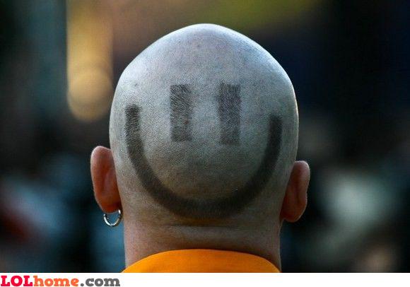 Smiley haircut