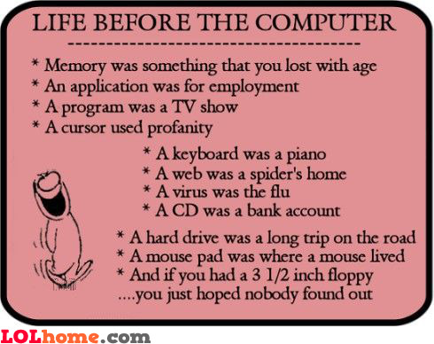Life before the computer