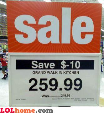 Save $-10