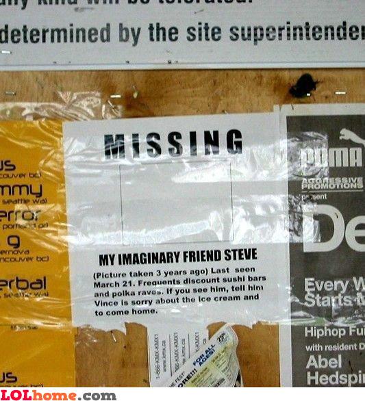 Steve is missing