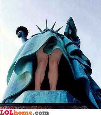 Under the Statue of Liberty