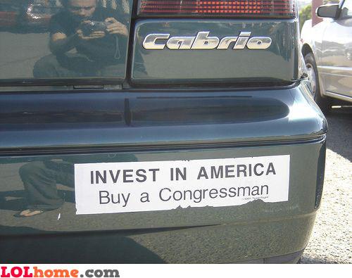 Buy a Congressman