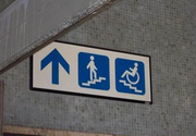 Stairs for the disabled