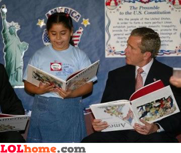 George Bush reading