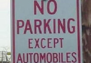 No parking except automobiles