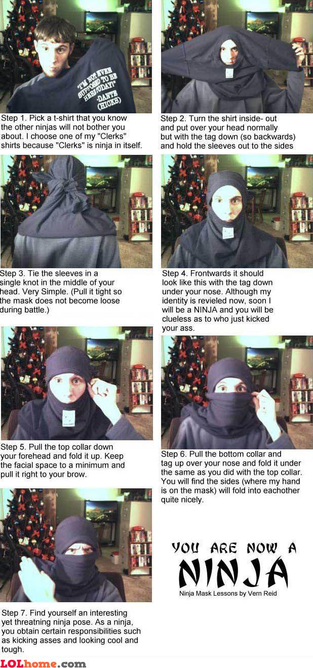 Steps to become a ninja