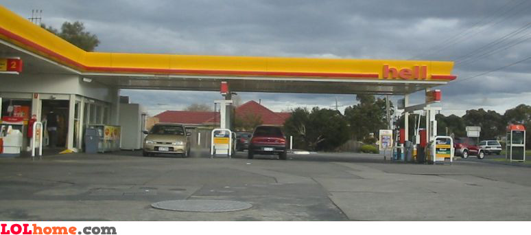hell gas station