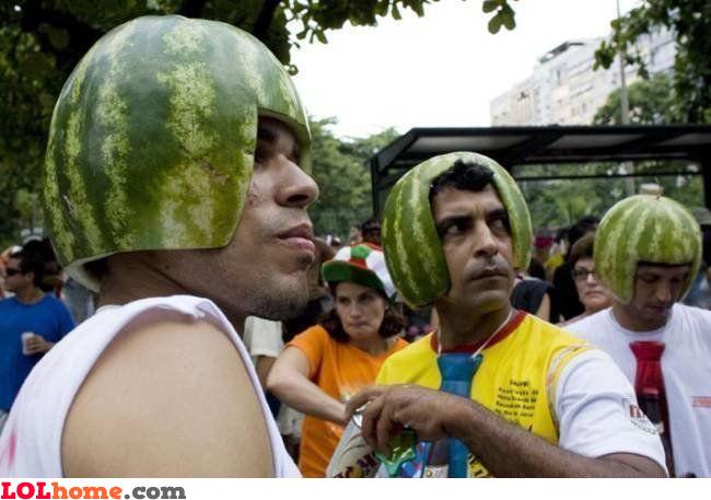 Watermellon helmets